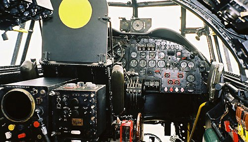 Lancaster cockpit from navigators position.jpg