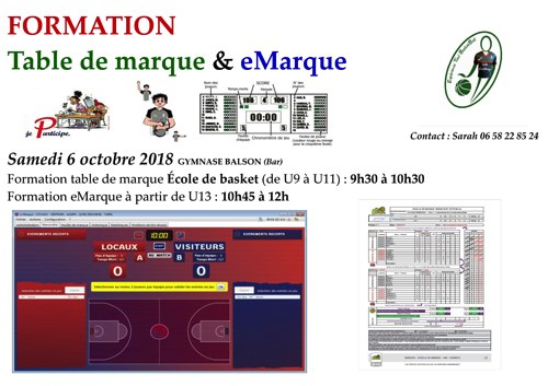 Formation emarque  table